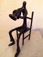 画像4: Vintage Human&Trumpet Obje (4)