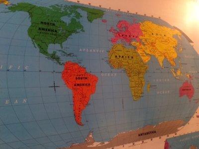 """画像1: """"Rand McNally""""World Map"""