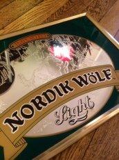 """画像2: Pub Mirror """"Nordik Wolf Light Beer"""" (2)"""
