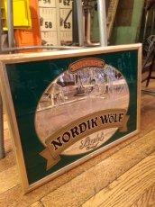 """画像1: Pub Mirror """"Nordik Wolf Light Beer"""" (1)"""