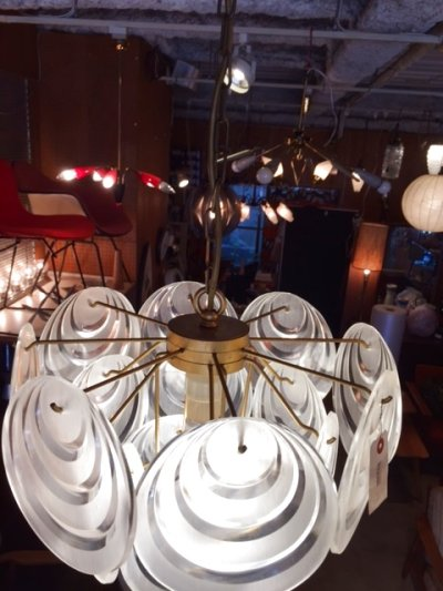 画像1: Lucite Panel Pendant Light