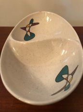 "画像2: ""Metlox Poppytrail"" Oval Divided Vegetable Bowl (2)"