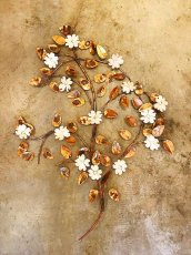 画像1: Flower & Leaf Wall Sculpture (1)