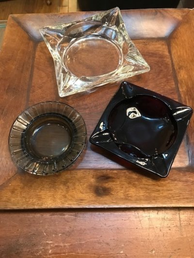 画像1: Glass Ash Tray