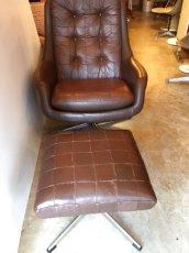 画像9: Leather Sofa &Ottoman (9)