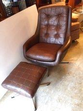 画像8: Leather Sofa &Ottoman (8)