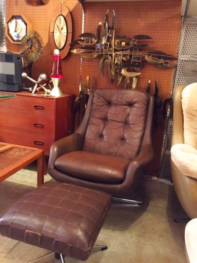 画像3: Leather Sofa &Ottoman