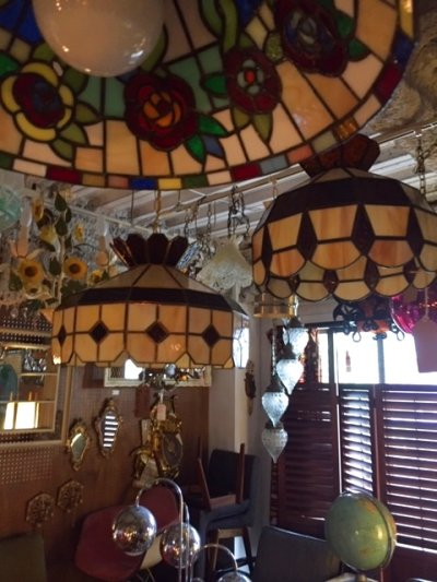 画像1: Stained glass Pendant Light