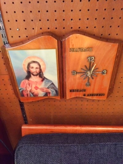 """画像1:  """"Jesus"""" Wall Clock"""