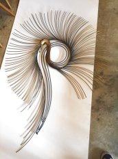 "画像2: ""Curtis Jere""Peacock Brass Wall Sculpture (2)"