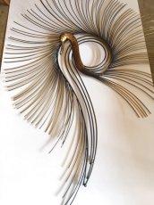"画像1: ""Curtis Jere""Peacock Brass Wall Sculpture (1)"