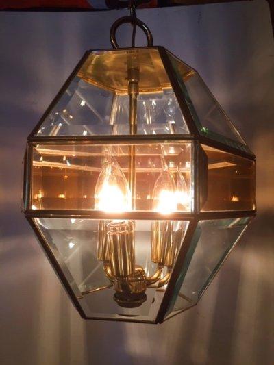 画像1: Gold Pendant Light
