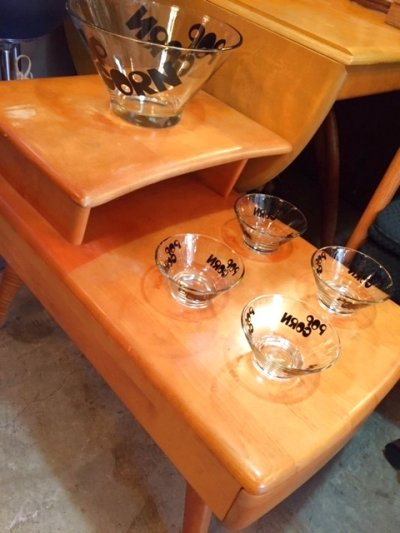 "画像2: ""POP CORN""Glass Bowl"