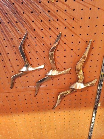 画像2: 3Bird Brass Wall Sculpture