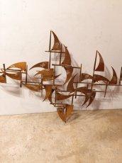 "画像5: ""William Bowie""Brass Wall Sculpture (5)"