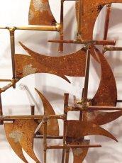 "画像4: ""William Bowie""Brass Wall Sculpture (4)"