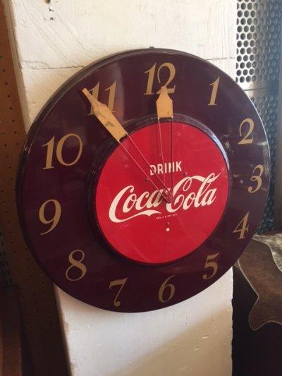 """画像1: Vintage """"Coca Cola"""" Clock"""