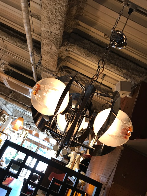 "【""Murano"" Crome Pendant Light】"