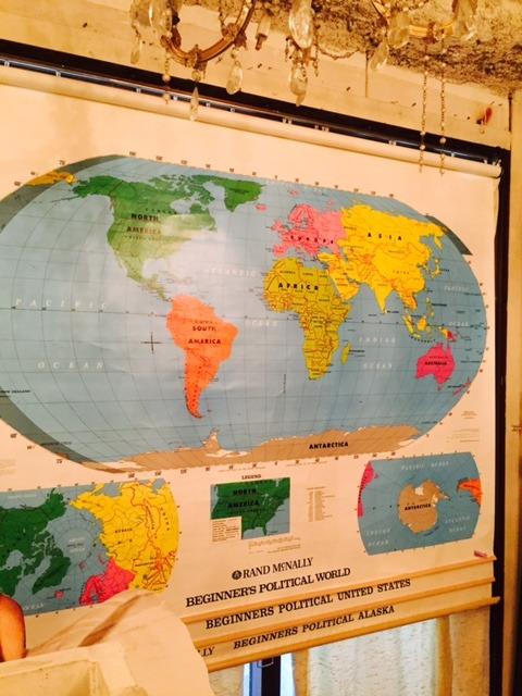 """画像1: """"Rand McNally""""World Map (1)"""