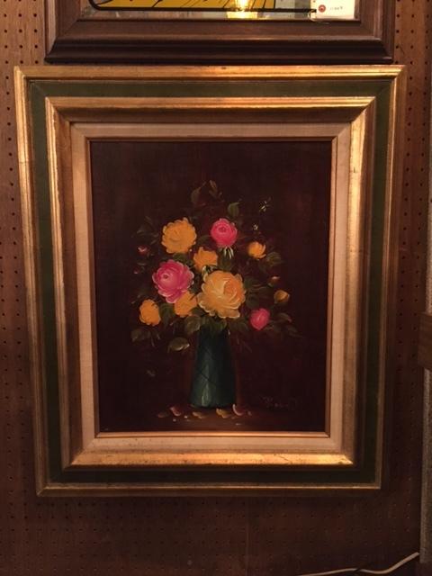 画像1: Vintage Rose Wall Hang (1)