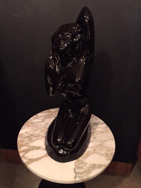 画像1:  Black Pottery Ornament (1)