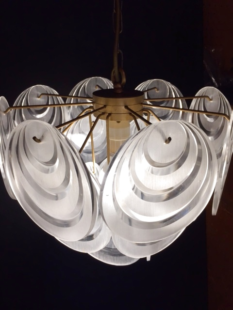 画像1: Lucite Panel Pendant Light  (1)