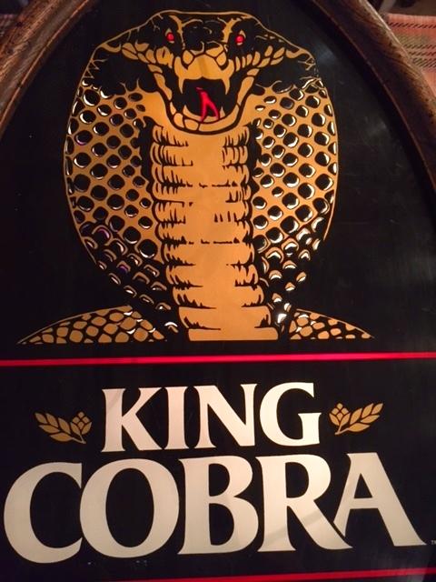 """画像1: """"King Cobra"""" Beer Light Sign (1)"""