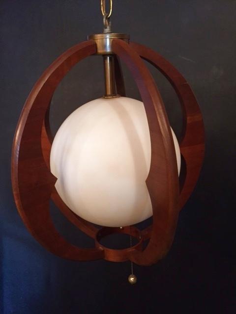 画像1:  Modern Wood Pendant Light  (1)