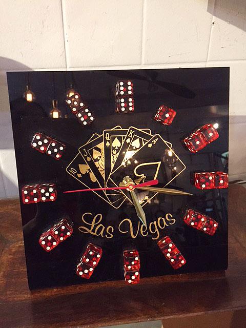 """画像1: """"Las Vegas""""Dice Clock (1)"""