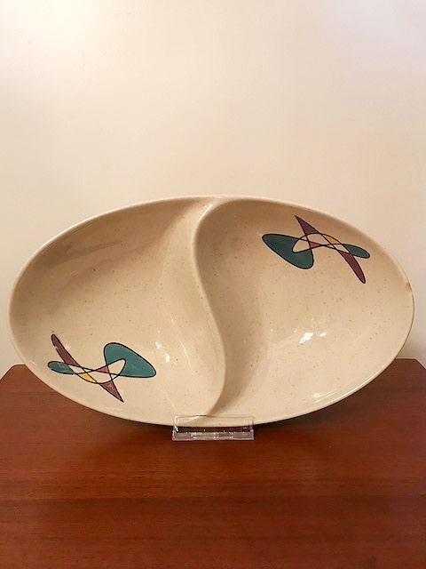 "画像1: ""Metlox Poppytrail"" Oval Divided Vegetable Bowl (1)"