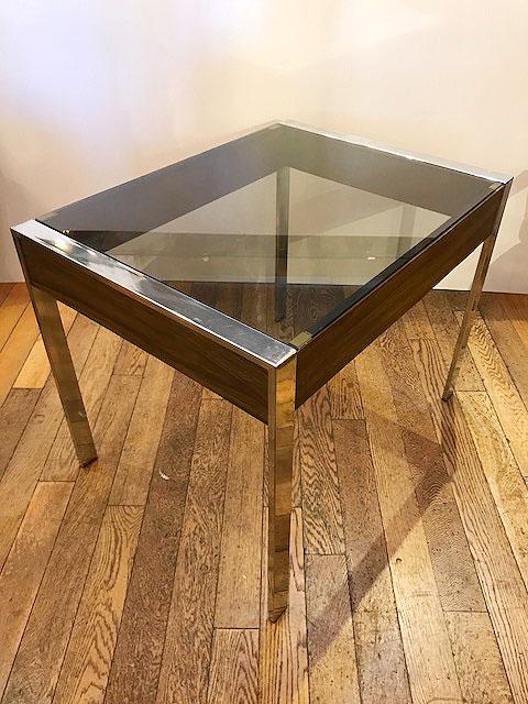 画像1: 80's Glass Table (1)