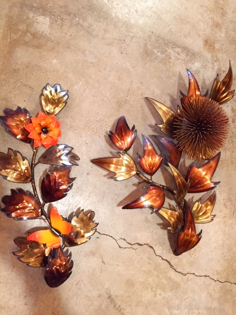 画像1: Flower & Leaf Wall Sculpture (1)
