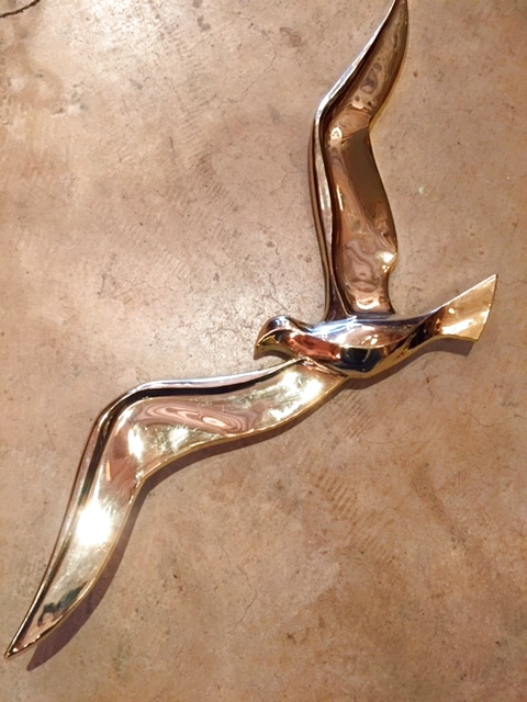 画像1: Gold Birds Wall Deco  (1)