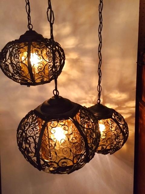 画像1: 3連 Spanish  Pendant Light (1)