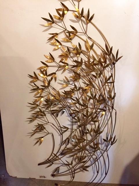 """画像1: """"CURTIS JERE"""" Brass Wall Sculpture (1)"""
