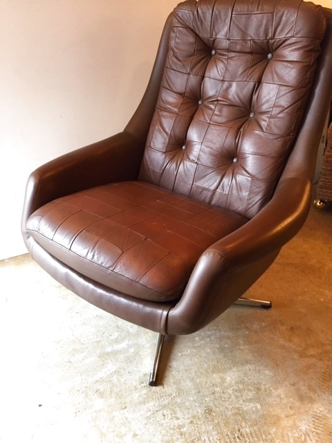 画像1: Leather Sofa &Ottoman (1)