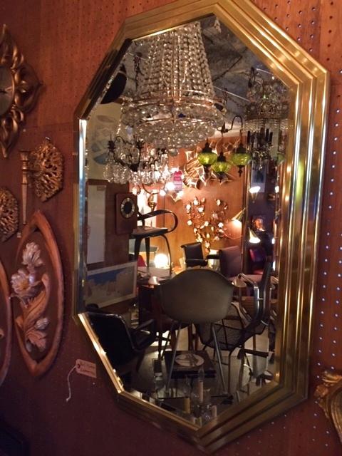 画像1: Gold Wall Mirror (1)