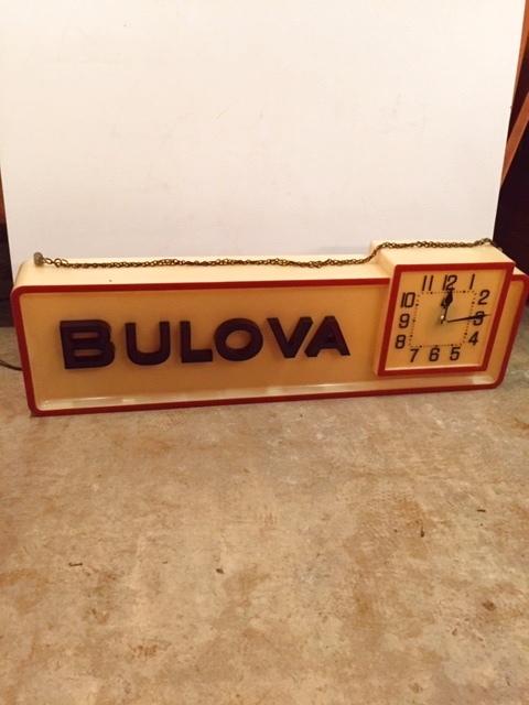 """画像1:  """"BULOVA"""" Neon Wall Clock (1)"""
