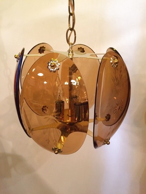 画像1: Smoke Glass Pendant Light (1)