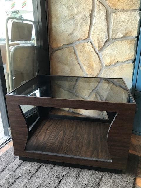 画像1: Glass Low Table (1)