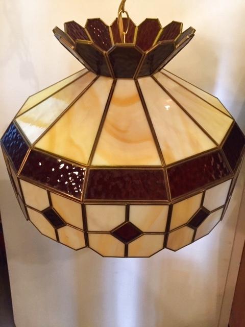 画像1: Stained glass Pendant Light (1)