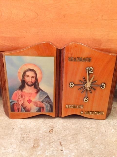 """画像1:  """"Jesus"""" Wall Clock (1)"""