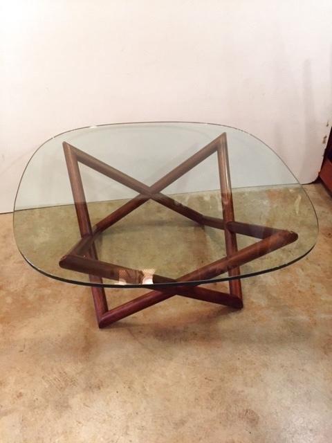 画像1: Modern Glass Table (1)