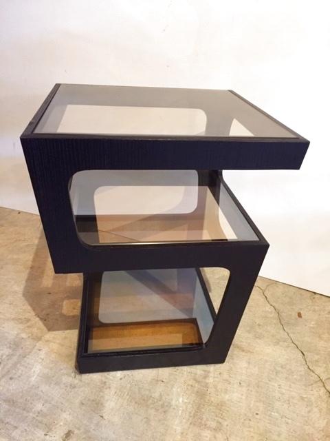画像1: Glass Side Table  (1)
