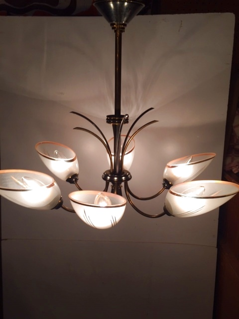 画像1: 6灯Modern Pendant Light (1)