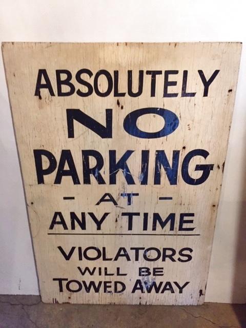 """画像1: """"NO PARKING"""" Wood  Sign (1)"""