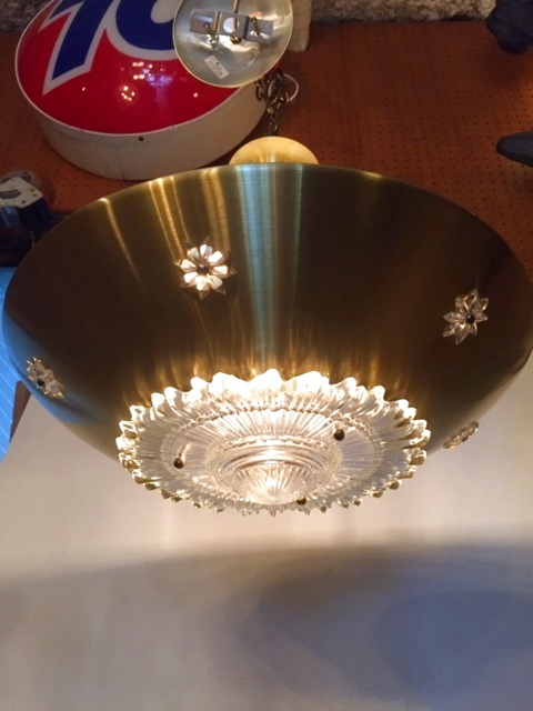 画像1: Gold Pendant Light (1)