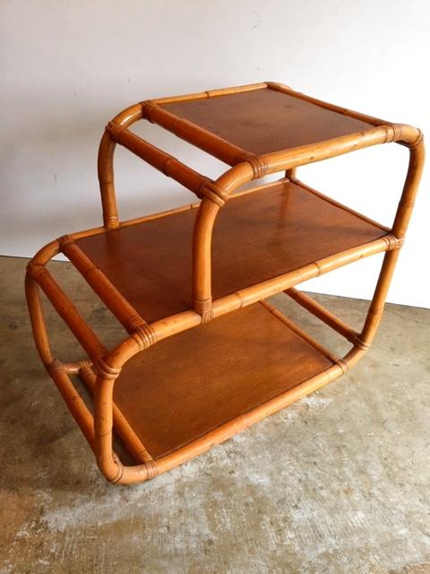 画像1: Rattan Side Table  (1)