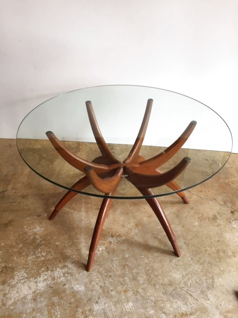画像1: Glass Circle Table (1)