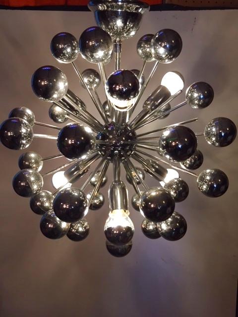 "画像1: "" Sputnik""Chrome Pendant Light (1)"